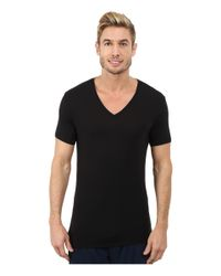 Calvin Klein | Black Wide Neck Short Sleeve V-neck for Men | Lyst