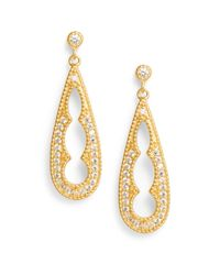 Freida Rothman | Yellow Cutout Teardrop Earrings | Lyst