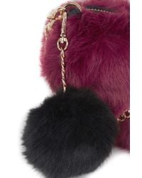 TOPSHOP | Purple Faux Fur Heart Bag | Lyst