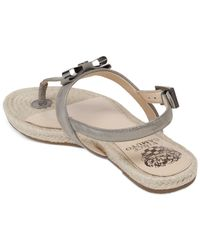 Vince Camuto | Gray Arabell Espadrille Flat Thong Sandals | Lyst