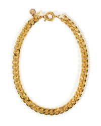 Annelise Michelson | Metallic Chainlinkleather Thorny Marieantoinette Necklace | Lyst