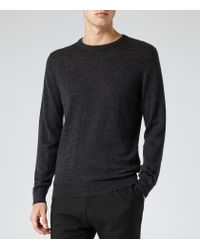 Reiss - Black Onyx Merino Wool Jumper for Men - Lyst