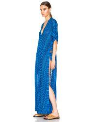 Missoni - Blue Maxi Caftan Dress - Lyst