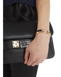 Vita Fede | Metallic Mini Titan Rose Gold Tone Bangle | Lyst