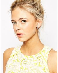 Pieces | Gray Statement Earrings | Lyst