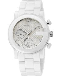 81906c50af8 Gucci Ya101353 G-chrono White Chronograph Watch - For Men in ...