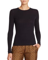 Michael Kors   Blue Featherweight Ribbed Cashmere Sweater   Lyst