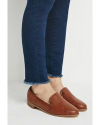 Forever 21 | Brown Faux Leather Loafers | Lyst
