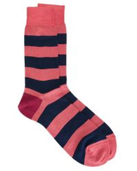 Paul Smith - Blue Striped Socks for Men - Lyst