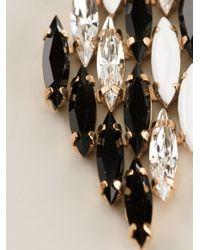 Shourouk | Black 'cobra' Earrings | Lyst