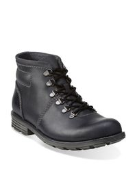 Clarks | Black Darian Leather Boots for Men | Lyst
