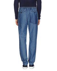 Andrea Pompilio - Blue Denim Trousers for Men - Lyst