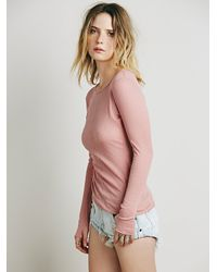 Free People - Pink Sweet Dream Layering Top - Lyst
