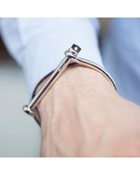 Miansai   Metallic Sterling Silver Screw Cuff for Men   Lyst