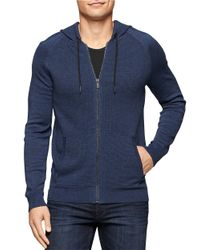 Calvin Klein Jeans | Blue Zip Front Hoodie for Men | Lyst