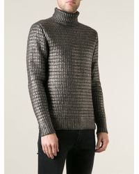 Diesel Black Gold | Gray 'Kifurt' Turtle Neck Sweater for Men | Lyst