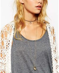 ASOS - Metallic Globe & Choker Necklace - Lyst