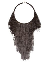 Rosantica | Black 'supernova' Beaded Fringe Necklace | Lyst