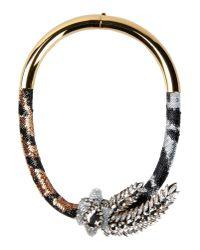 Shourouk - Black Necklace - Lyst