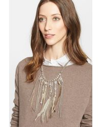 Fabiana Filippi | Feather Fringe Necklace - Metal White | Lyst