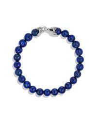 David Yurman | Metallic Spiritual Beads Bracelet With Lapis Lazuli, 8mm for Men | Lyst