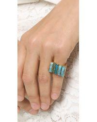 Elizabeth Cole | Lorna Ring - Blue | Lyst