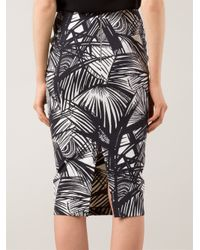 Elizabeth and James - Black Palm Print Sleeveless Dress - Lyst