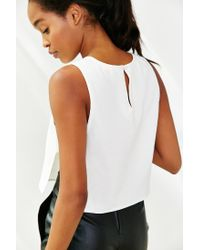 Silence + Noise | White Bar Shell Tank Top | Lyst