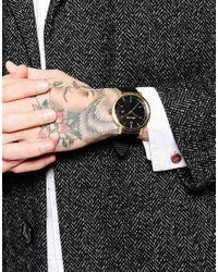 Nixon - Black Rollo Leather Strap Watch A945 for Men - Lyst