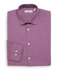 Saks Fifth Avenue | Pink Regular-fit End-on-end Cotton Dress Shirt for Men | Lyst