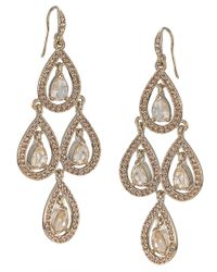 Carolee | Metallic Pear Glass Chandelier Earrings | Lyst