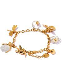 Alex Monroe - Metallic Gold-plated Greatest Hit Charm Bracelet - Lyst