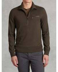 John Varvatos | Green Long Sleeve Half-zip Pullover for Men | Lyst