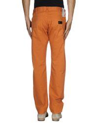 Armani - Orange Casual Pants for Men - Lyst