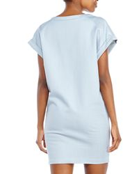 Maje - Blue Color Block Shift Dress - Lyst