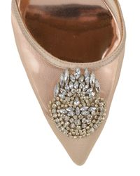 Badgley Mischka | Pink Rylee Embellished D'orsay Evening Shoe | Lyst