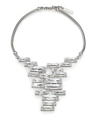Lafayette 148 New York | Metallic Crystal Cluster Pendant Necklace | Lyst
