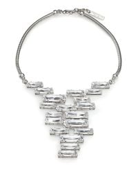 Lafayette 148 New York | Gray Crystal Cluster Pendant Necklace | Lyst