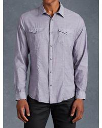 John Varvatos | Purple Cotton Utility Shirt for Men | Lyst