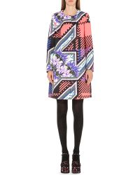 Mary Katrantzou - Multicolor Iona Printed Cotton And Silk-blend Coat - Lyst