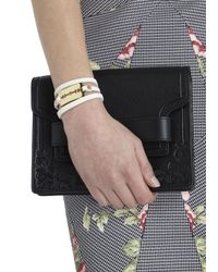 McQ | White Razor Leather Wrap Bracelet | Lyst