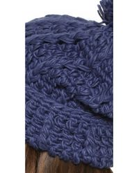 1717 Olive - Blue Cuffed Pom Beanie Hat - Lyst