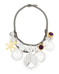 Eddie Borgo - Metallic Tricolor Challenge Necklace - Lyst