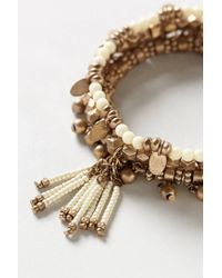 Anthropologie - Metallic Tassel Bead Bracelet Set - Lyst