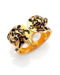 Alexander McQueen - Metallic Leopard Skull Bracelet - Lyst