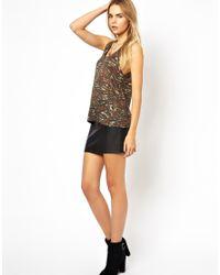 IRO - Green Fine Knit Linen Tank Top in Camo Print - Lyst