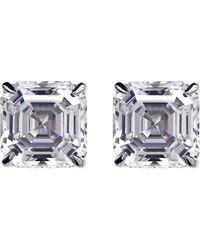 Carat* - Metallic Asscher 2ct Solitaire Stud Earrings - Lyst