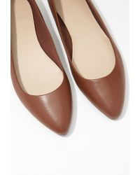 Forever 21 | Brown Pointed Faux Leather Flats | Lyst