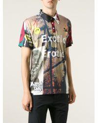 Soulland - Black Digital Print Polo Shirt for Men - Lyst