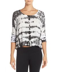 Hard Tail | Black Tie-Dye Knitted Top | Lyst